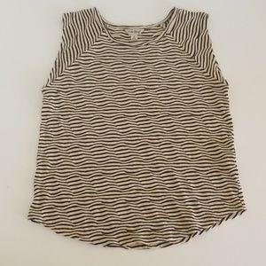 Lucky Brand Top Zig Zag Striped Pattern
